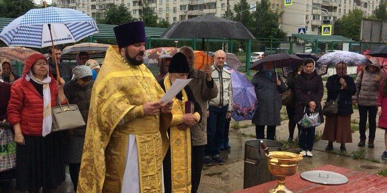 Молебен о строительстве в день Всех святых в земле Российской просиявших
