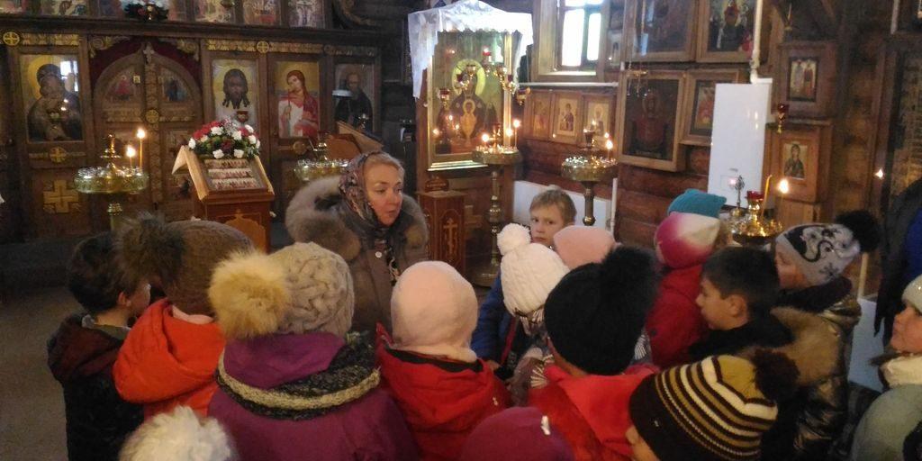 Экскурсия учащихся школы №1150 в храм прп. Сергия Радонежского