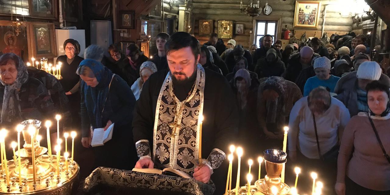 Великое повечерие с чтением канона прп. Андрея Критского