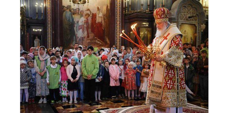 Божественная Литургия для детей в храме Христа Спасителя 16 февраля 2020 года